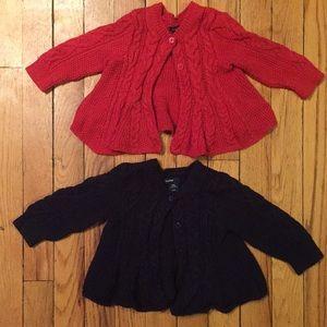 2 Baby Gap girl sweaters